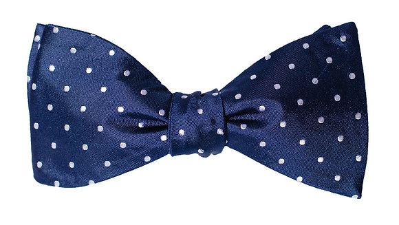 White Polka Dot Bow Tie