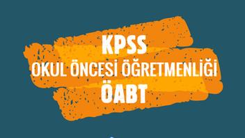 KPSS 2021 Okul Öncesi ÖABT