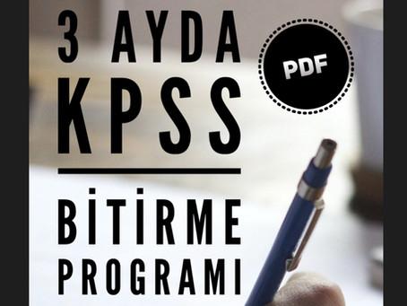 3 Ayda KPSS Bitirme Programı
