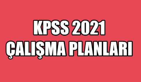 KPSS Çalışma Planları (Yeni)