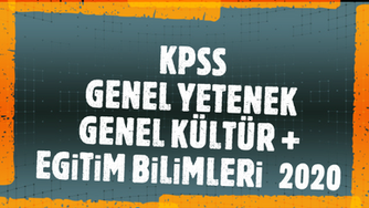 KPSS GY+GK+EB 2020