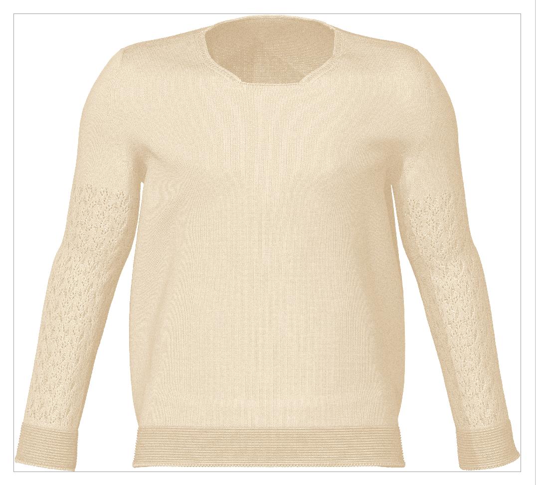 Lady Bug Sweater Knit Simulation