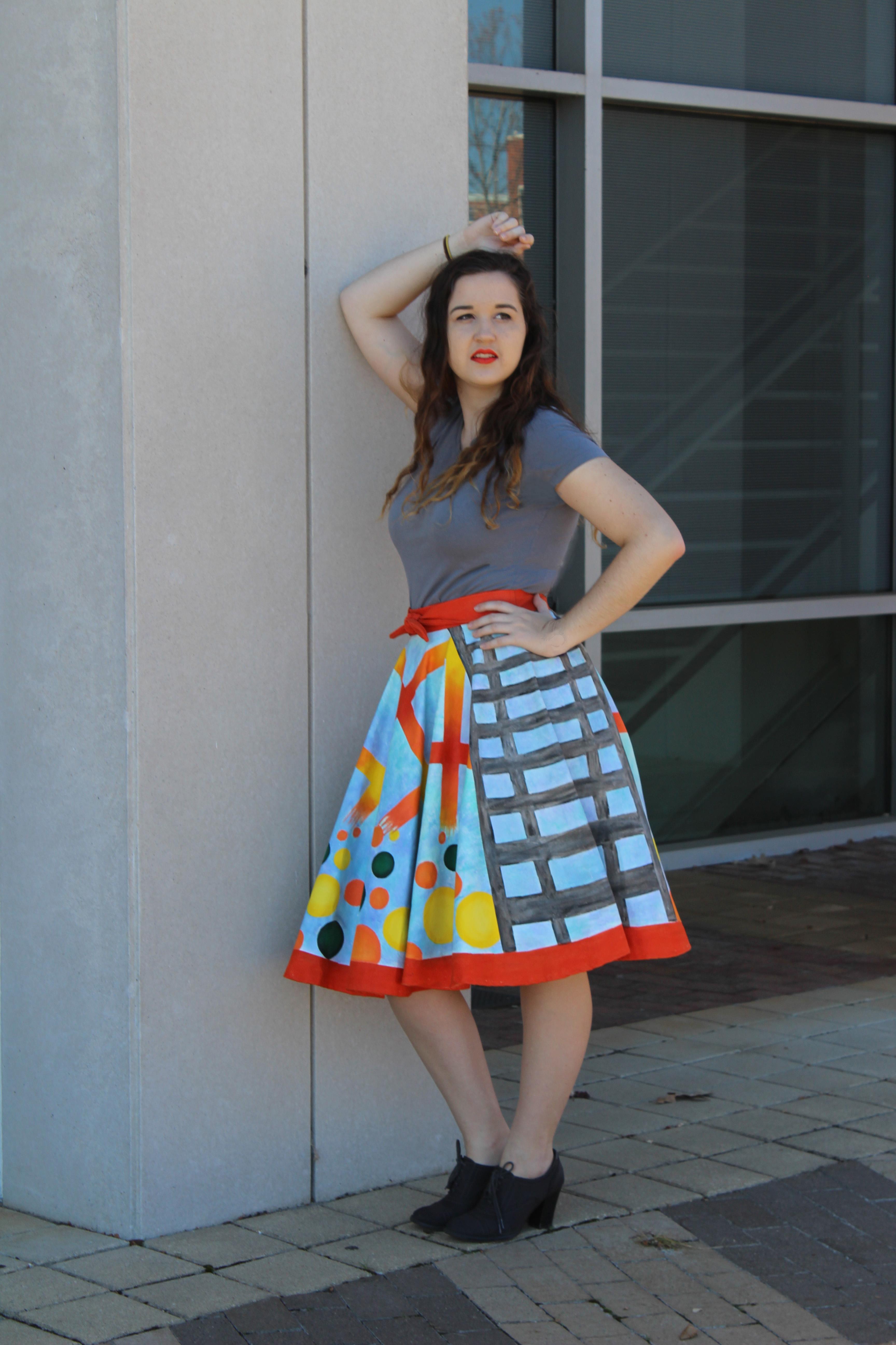 Modeled Skirt