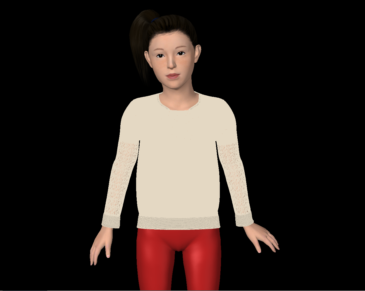 Lady Bug Sweater Fit Simulation
