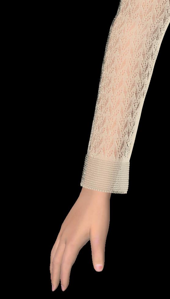 Lady Bug Sweater Sleeve Detail Simulation
