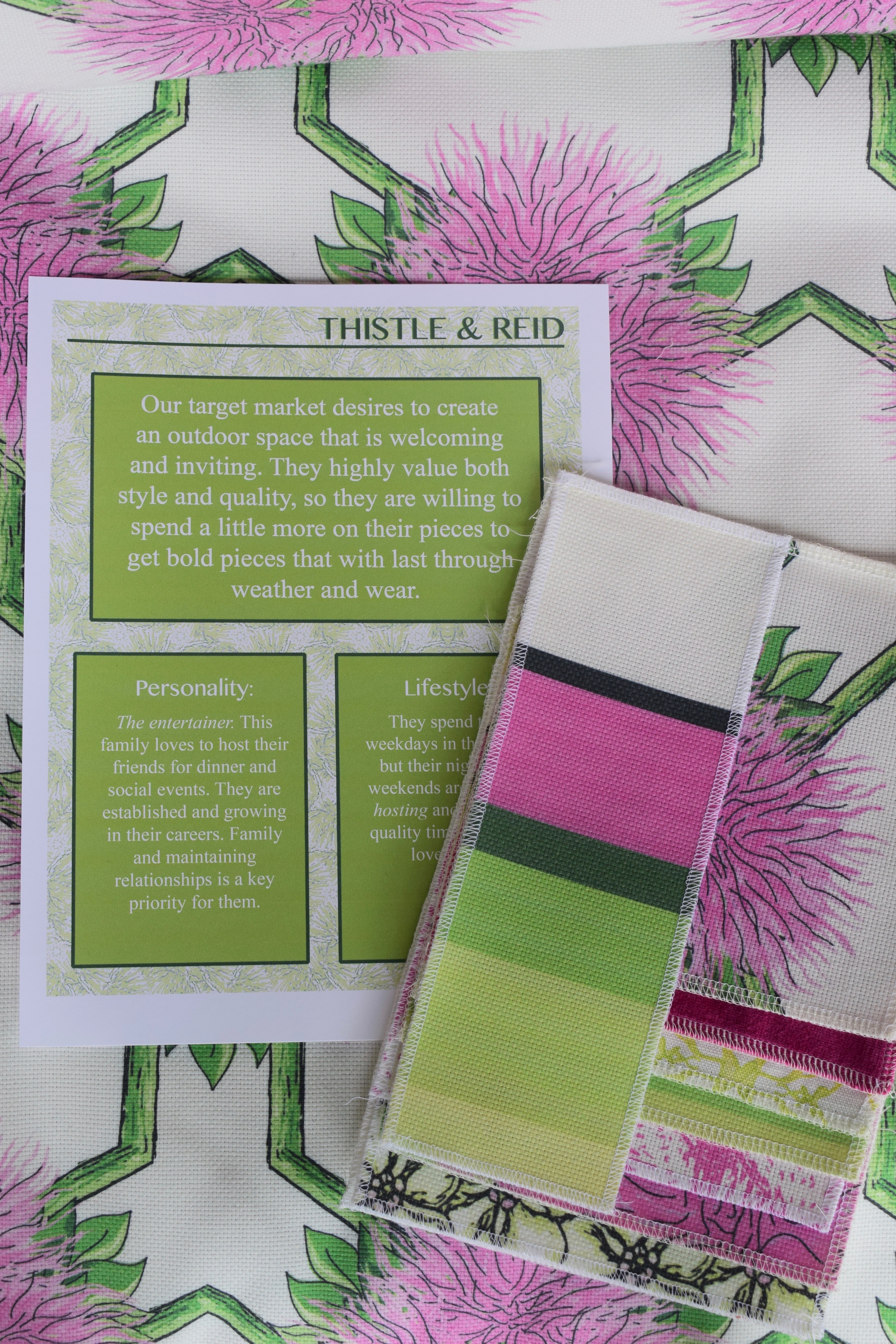 Target Market and Fabric Sample