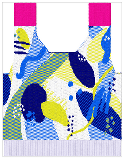 Back garment simulation