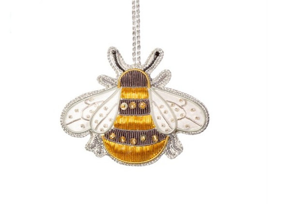 Bee embroidered decoration