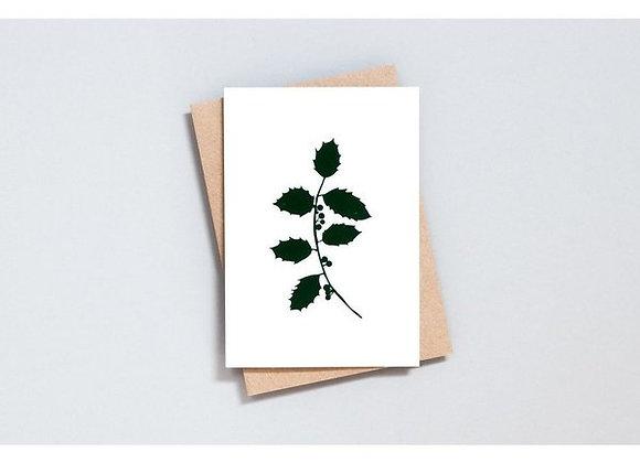 Botanical Holly Greetings card