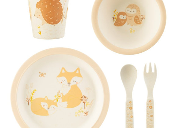 Little Woodland Bamboo Tableware Set