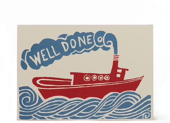 Well Done 'Tugboat' card