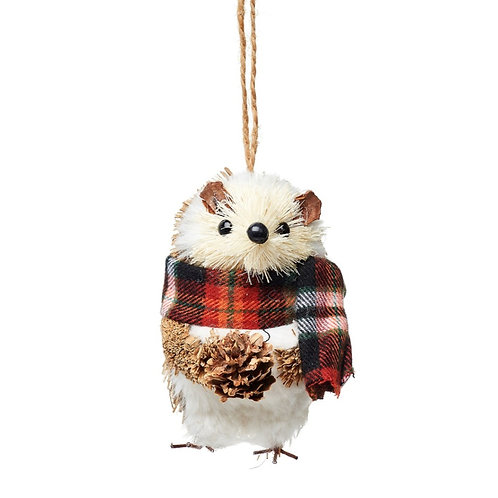 Woodland Hedgehog Christmas Decoration