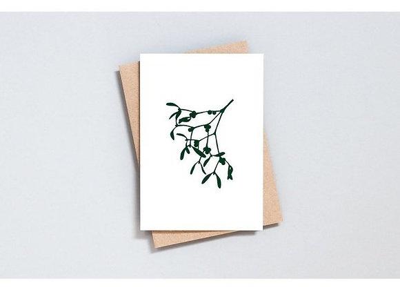 Botanical 'Mistletoe' Greetings card
