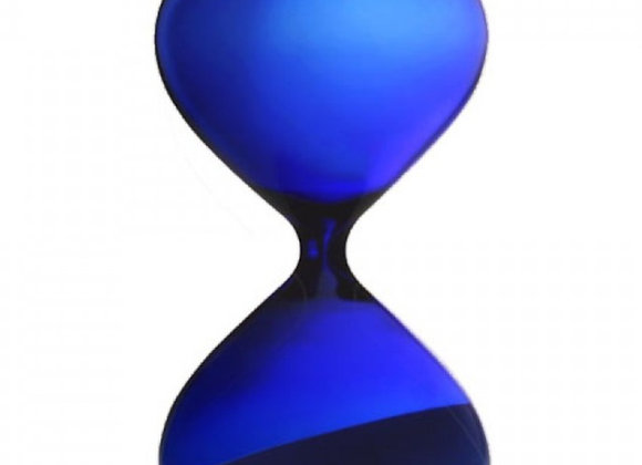 Blue hourglass 15 minute timer