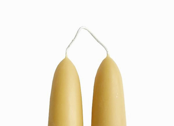Stumpie Hand Dipped Beeswax Candles
