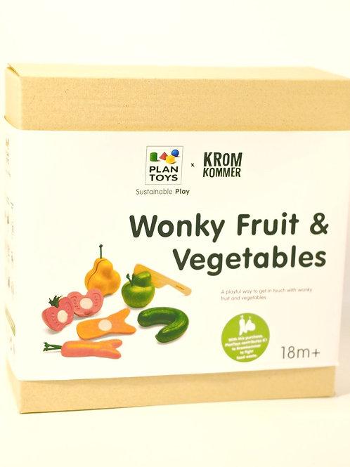 Wonky Fruit & Veg set - Plan Toys