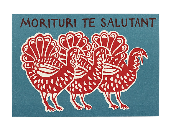 "Pack of 10 ""Gladiator Turkeys"" Cards"