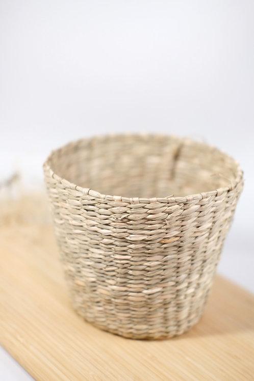 Natural Seagrass Planter - Medium