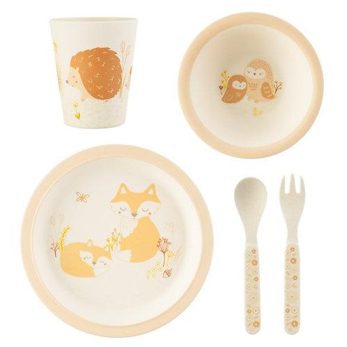 Woodland baby tableware set