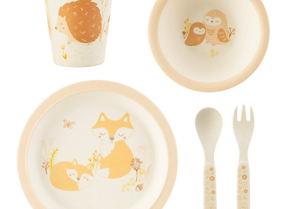 Woodland baby tableware set