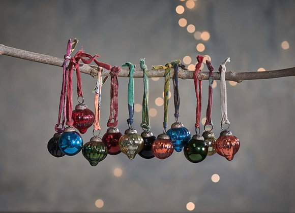 Dewdrop baubles - set of 12