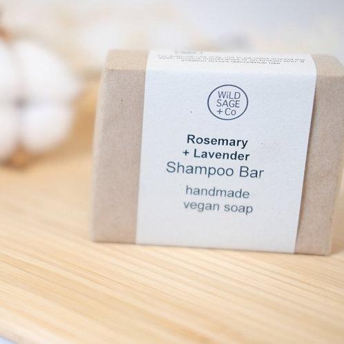 Wild Sage & Co. Shampoo Bar - Rosemary + Lavender