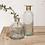 Thumbnail: Hammered Glass Bottle  -tall