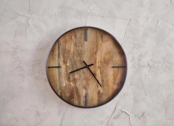 Mango Wood Clock