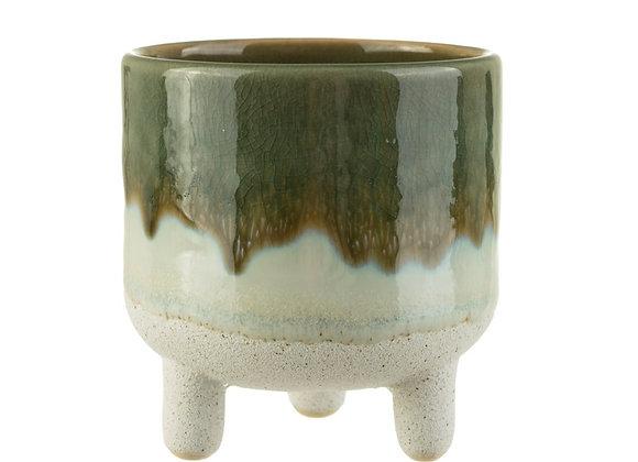 Glazed Stoneware Planter