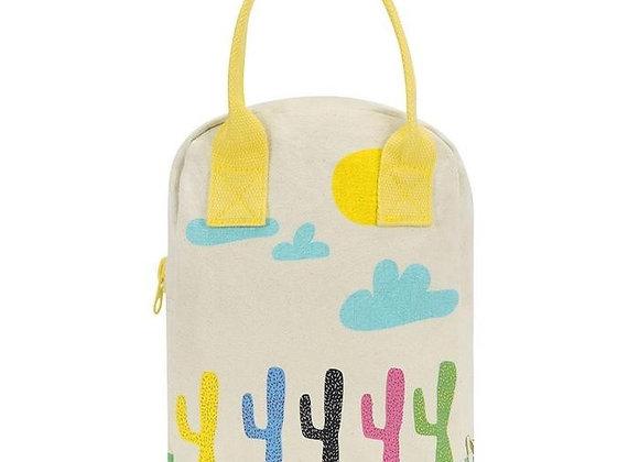 Cactus Zipper Organic Lunch bag