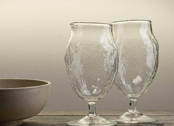 Handblown wine glass
