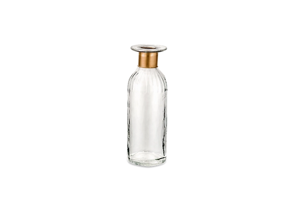 Hammered Glass Bottle  -tall