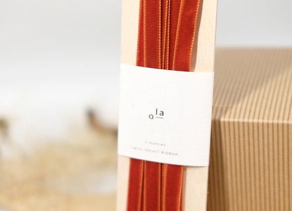 Luxury Swiss Velvet Ribbon - 3 Colours