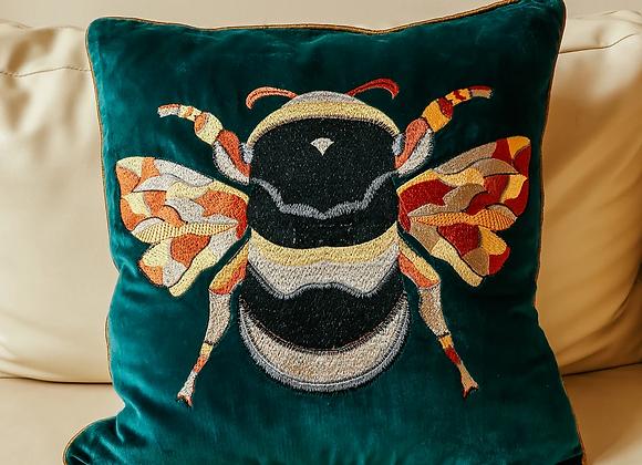 Green Bee Cushion