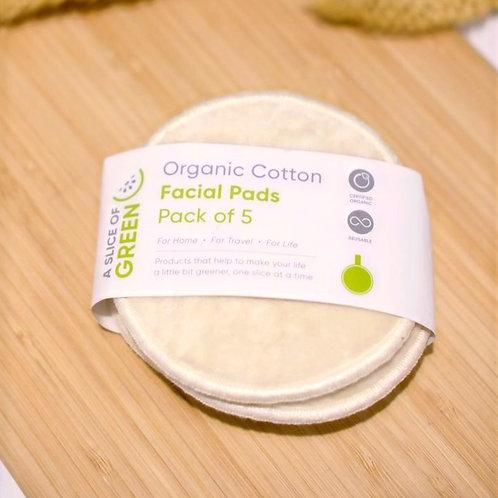 Organic Facial Pads - Set of 5
