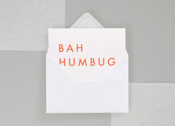 Bah Humbug Print in Neon Orange/White Gold