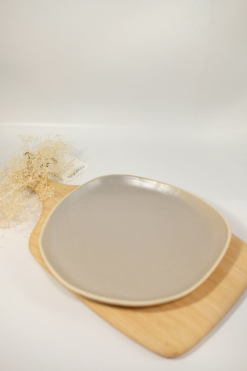 Side Plate - Organic Mushroom Grey/Green