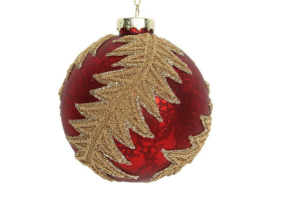 Antique red bauble