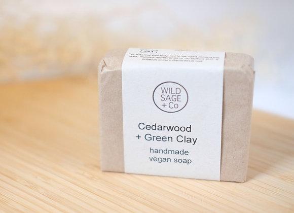 Cedarwood + Green Clay Soap