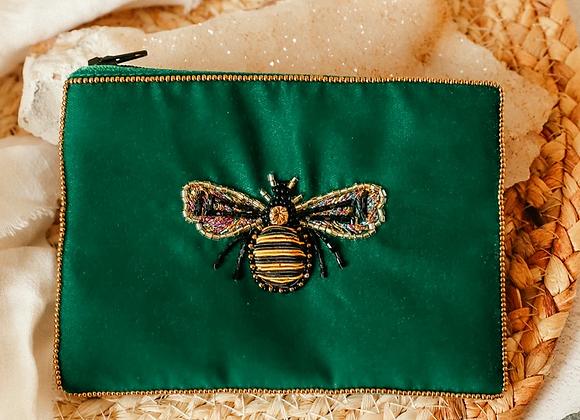 Emerald Bee Purse