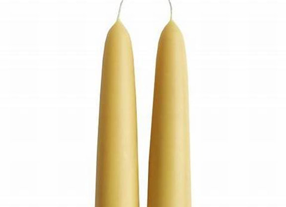 Giant Stubby Hand Dipped Beeswax Candles