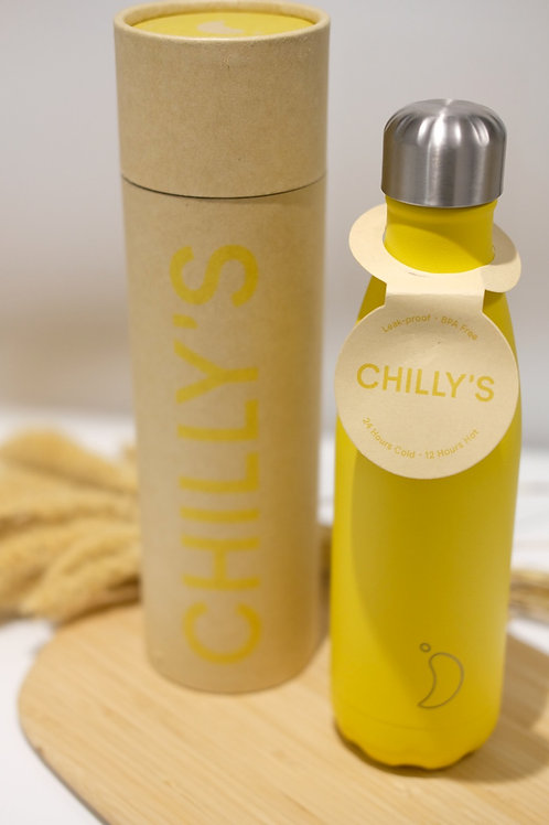 Chilly's Bottle Matt Yellow 500ml