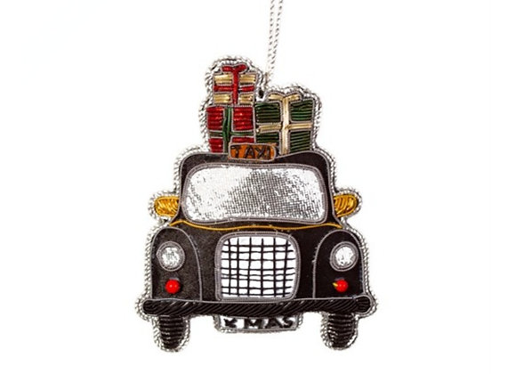 London taxi embroidered decoration