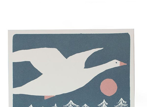 Pack of 10 'Snow Goose' Cards