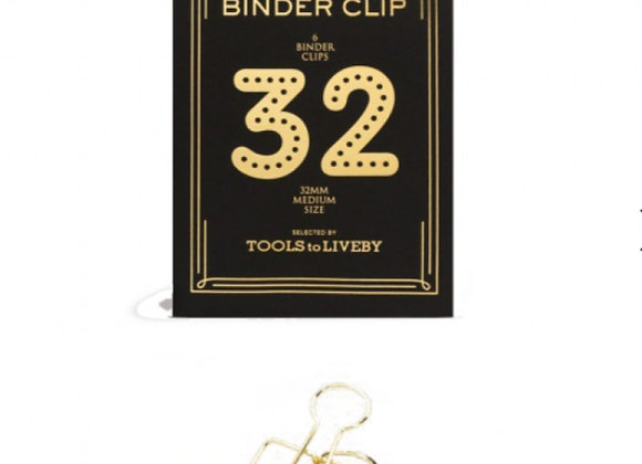Gold paper clips x6