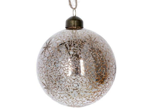 Antiqued starred bauble