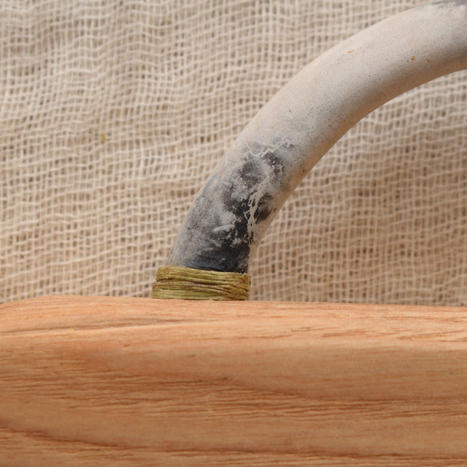 Bonfire-fired Brush Handle