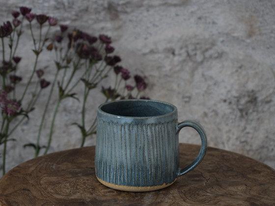 Carved Sky Blue Mug