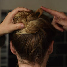 Half-sized Hair Pin In Use