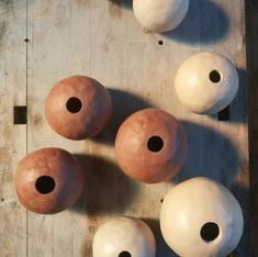 Green earthenware pots